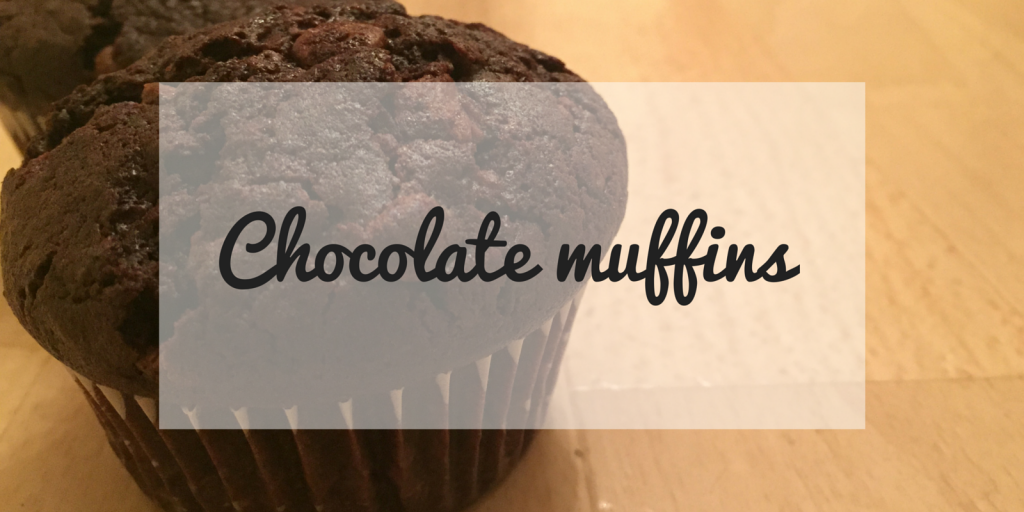 Chocolate muffins - Blog Coffee with Clementine