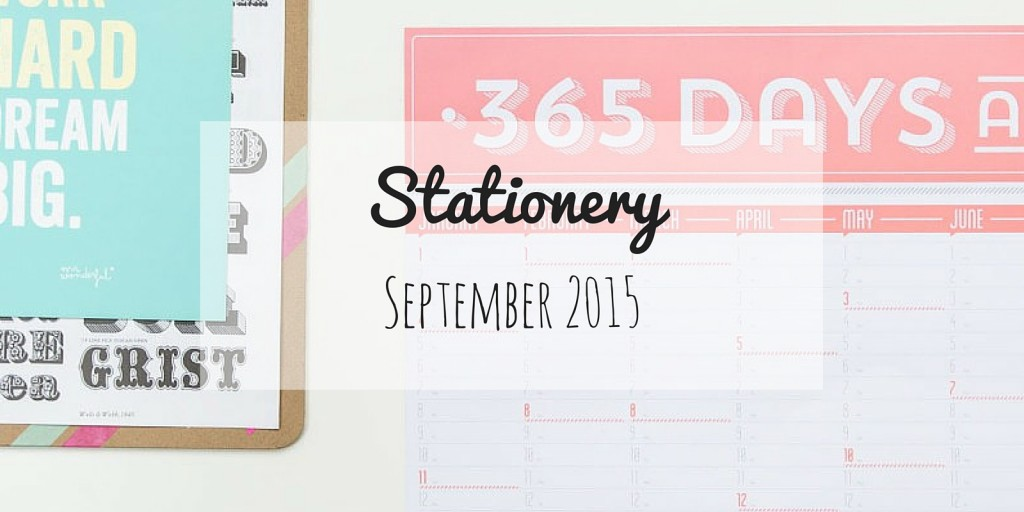 Stationery | September 2015 - Blog coffee with Clementine