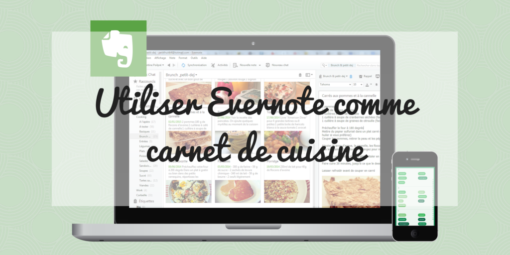 Utiliser Evernote comme carnet de cuisine - blog un café avec Clémentine