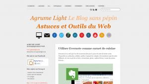 Sur Agrume Light, je publiais des articles autour du Web