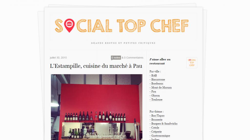 Sur Social Top Chef, je publiais des critiques de restaurants