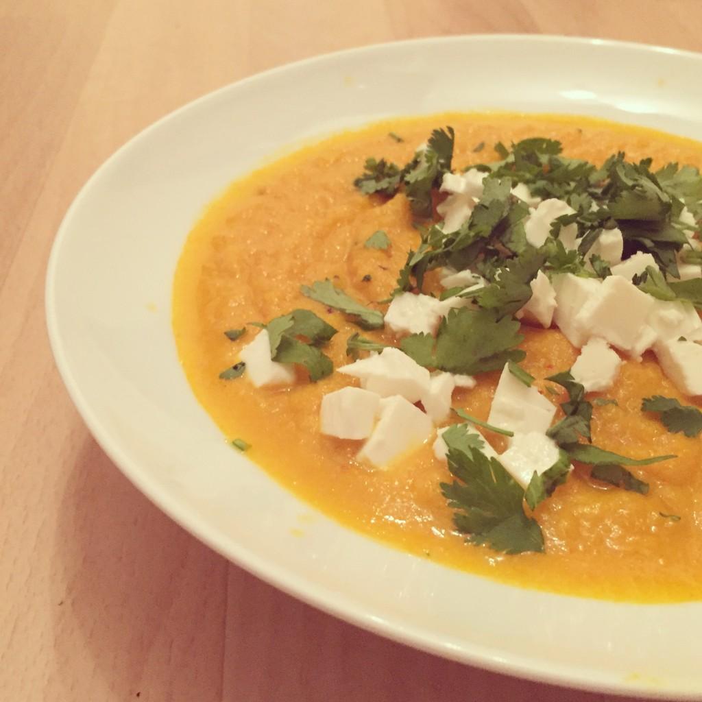 Soupe de carotte feta
