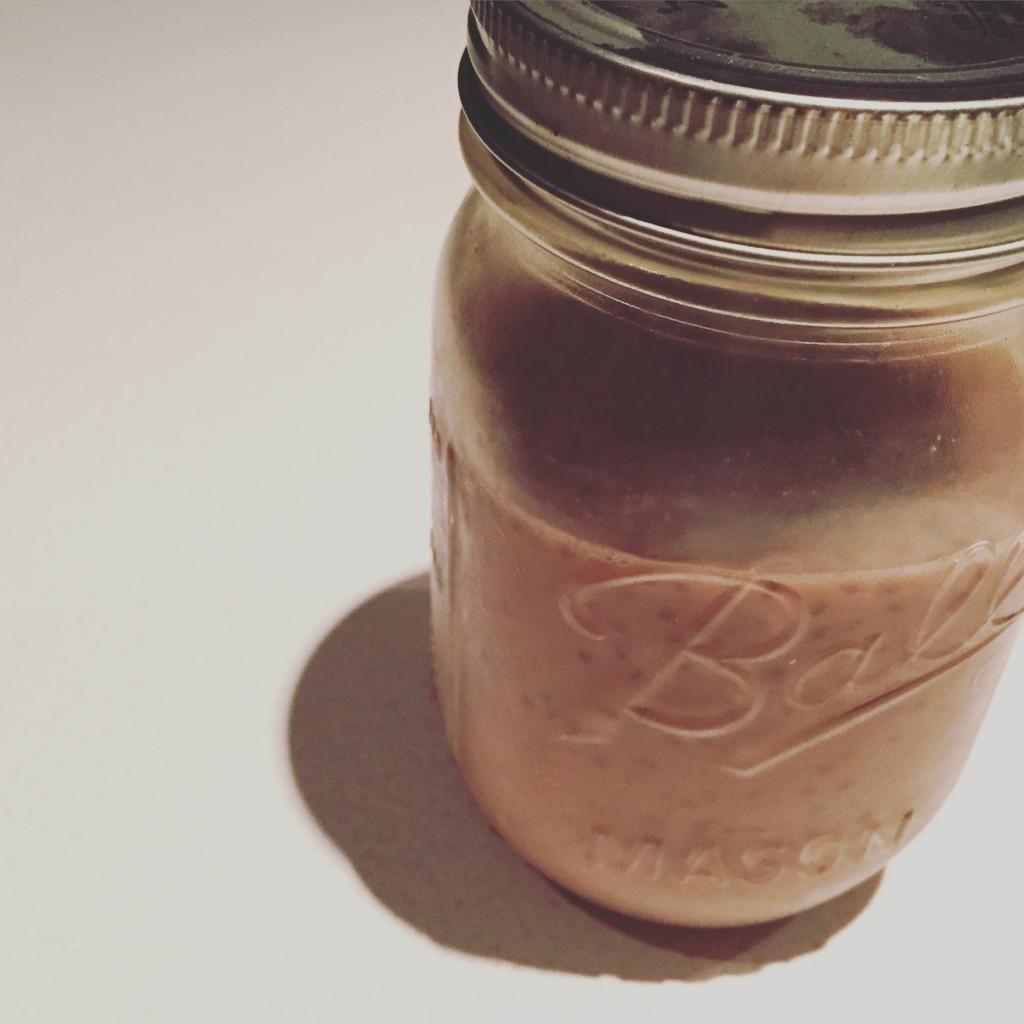 Lait chocolaté aux graines de chia