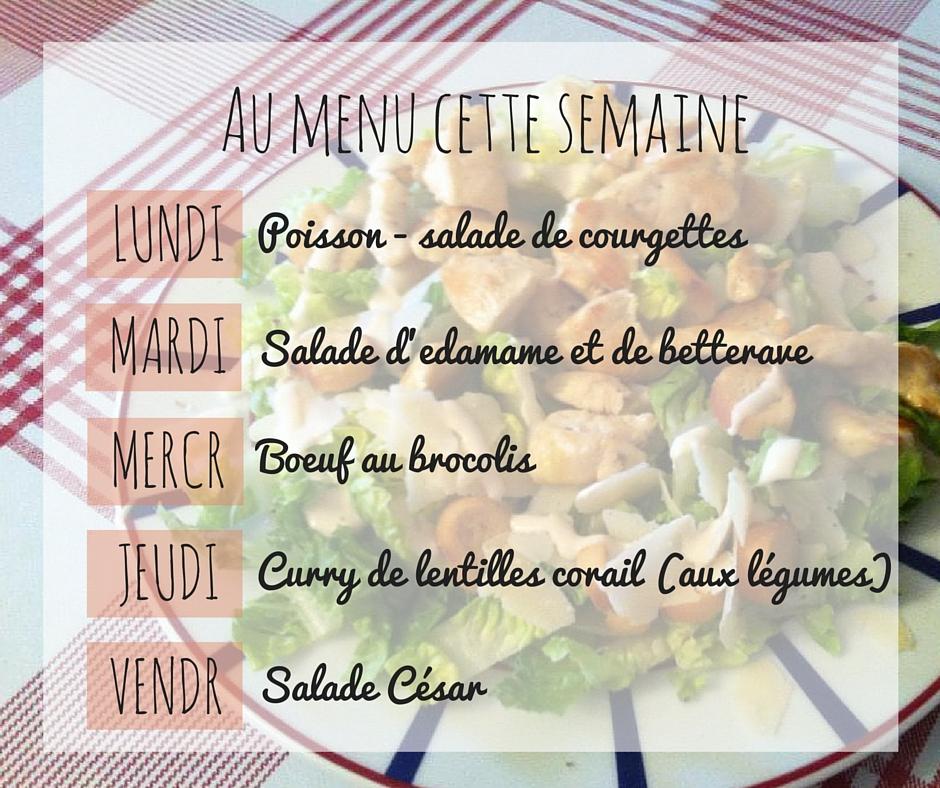 {Janvier} Au menu cette semaine #13