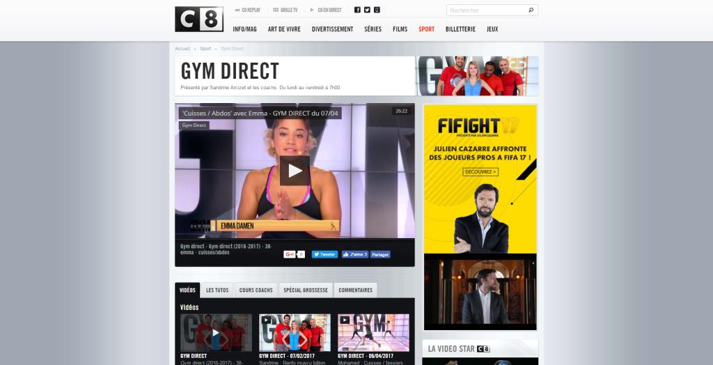 Gym Direct C8 La nouvelle grande chaîne