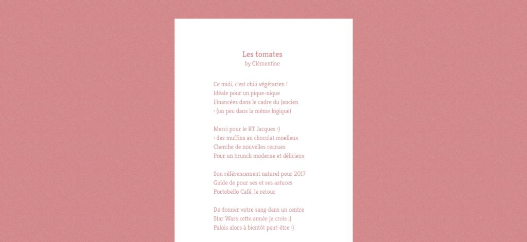 Actu Web - Poeme Twitter
