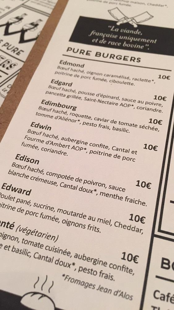 Edmond Pure Burger Bordeaux