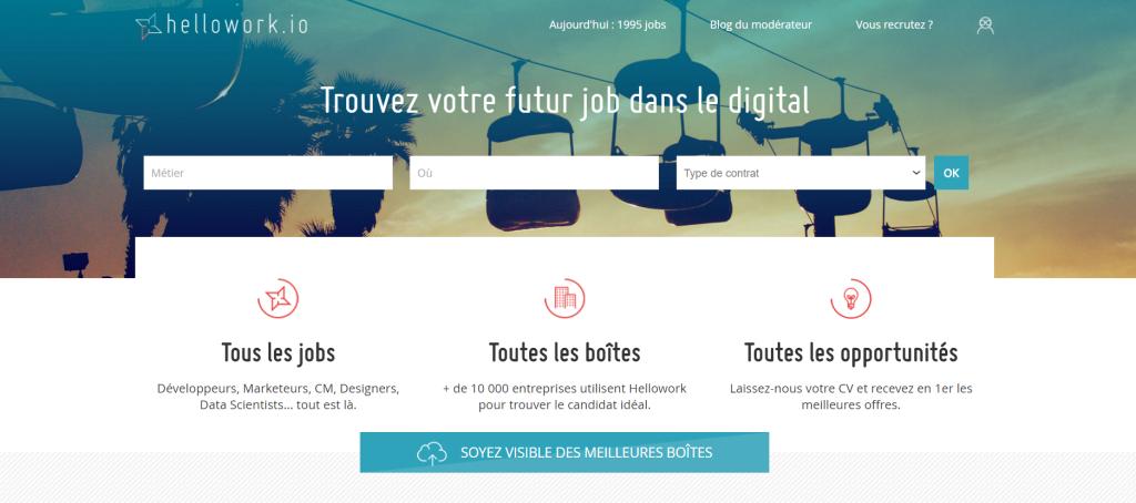 Hellowork le site d_offres d_emploi des professionnels du digital est lancé