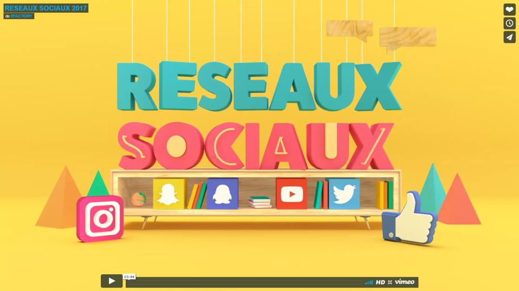 Réseaux sociaux les statistiques 2017 en vidéo